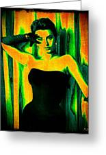 Sophia Loren - Neon Pop Art Greeting Card
