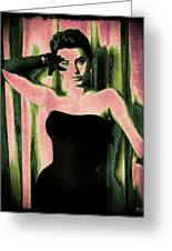 Sophia Loren - Pink Pop Art Greeting Card