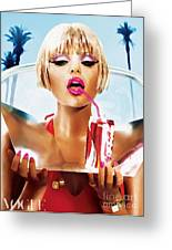 Sophie Monk Painting Greeting Card