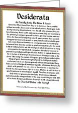Sophistcated Medieval Style Desiderata Greeting Card