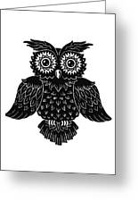 Sophisticated Owls 1 Of 4 Greeting Card