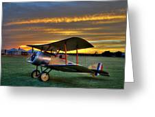 Sopwith Sunset Greeting Card