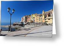 Sori Waterfront. Italy Greeting Card