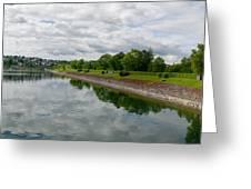 Sorpe Dam Panorama Greeting Card