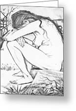 Sorrow After Vincent Van Gogh  Greeting Card