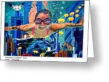 Sosial Aquarium Greeting Card