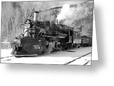 Sothbound Through Rockwood Black And White Greeting Card
