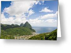 Soufriere St. Lucia Greeting Card