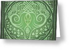 Soul Mates - Green Greeting Card by Cristina McAllister