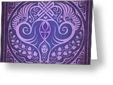 Soul Mates - Purple Greeting Card