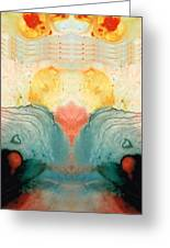 Soul Star - Abstract Art By Sharon Cummings Greeting Card