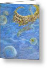Soul's Flight In The Ocean Of Time And Space Greeting Card by Jacquelyn Roberts