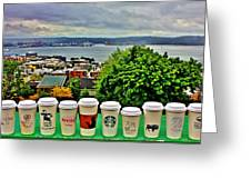 Sound Coffees Greeting Card by Benjamin Yeager