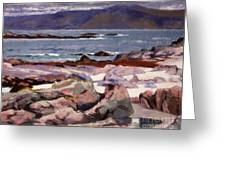 Sound Of Iona  The Burg From The North Shore Greeting Card
