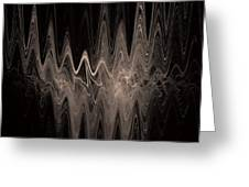 Sound Waves Greeting Card