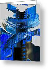 Sounder In Blue Greeting Card