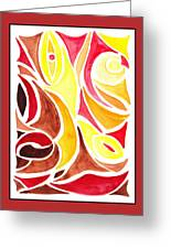 Sounds Of Color Doodle 2 Greeting Card