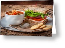Soup And Sandwich Greeting Card