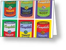 Soup Cans Greeting Card