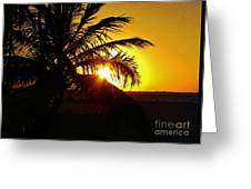 Sour Sunset Greeting Card