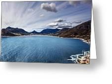 South Africa Bay View Greeting Card