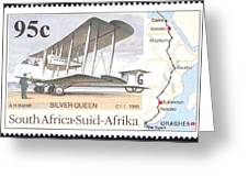 South Africa Stamp Greeting Card