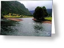 South America - Chile River Greeting Card