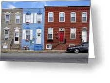 South Baltimore Row Homes Greeting Card