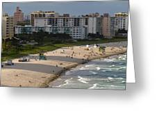 South Beach Afternoon Greeting Card
