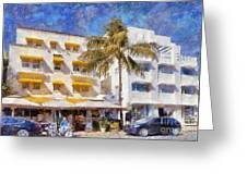South Beach Miami Art Deco Buildings Greeting Card