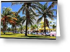 South Beach Miami Beach Greeting Card