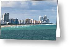 South Beach On A Summer Day Greeting Card