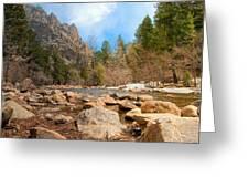 South Boulder Creek - Eldorado Canyon State Park Greeting Card by Tom Potter