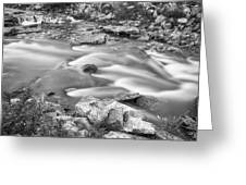 South Boulder Creek Little Waterfalls Rollinsville Bw Greeting Card