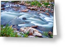 South Boulder Creek Little Waterfalls Rollinsville Greeting Card