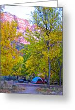 South Campground In Zion Np-ut Greeting Card