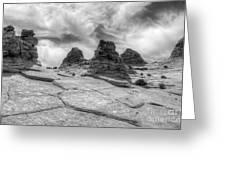 South Coyote Buttes Monochrome 1 Greeting Card