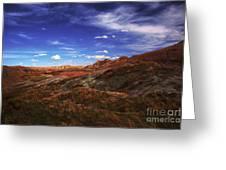 South Dakota Badlands Beautiful Afternoon Greeting Card