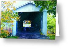 South Denmark Rd. Covered Bridge Greeting Card