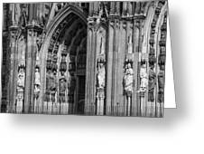 South Entrance Detail Cologne Cathedral Greeting Card