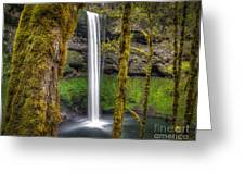 South Falls Silver Falls State Park Greeting Card