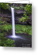 South Falls - Silver Falls State Park - Oregon Greeting Card