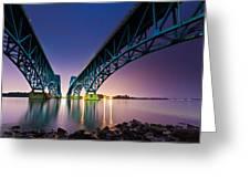 South Grand Island Bridge Greeting Card