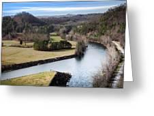 South Holston Dam View Greeting Card