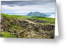 South Iceland Landscape Pingvellir Greeting Card
