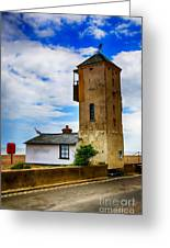 South Lookout Tower Aldeburgh Beach Greeting Card