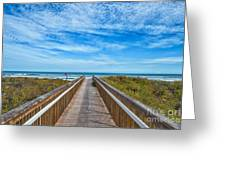 South Padre Island Walkway Greeting Card