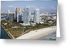 South Pointe Park Miami Beach Florida Greeting Card