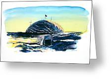 South Pole Dome Antarctica Greeting Card by Carolyn Doe