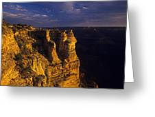 South Rim Grand Canyon Taken Near Mather Point Sunrise Light On  Greeting Card